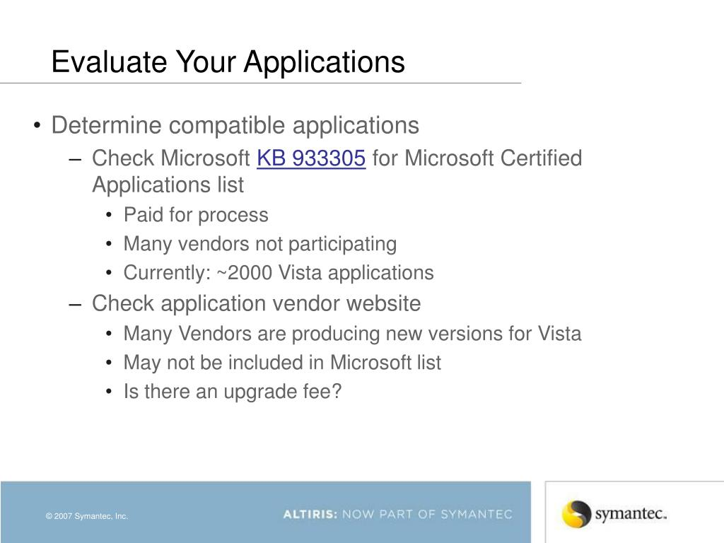 Evaluate Your Applications