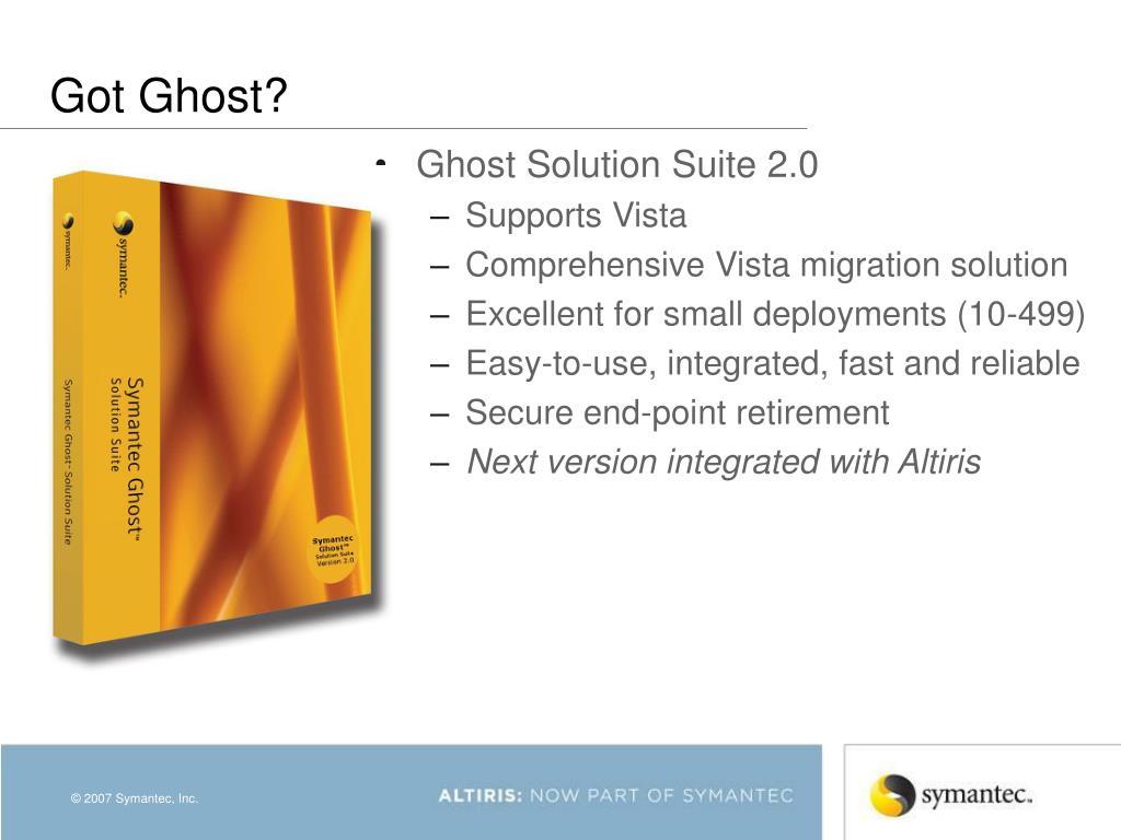 Got Ghost?