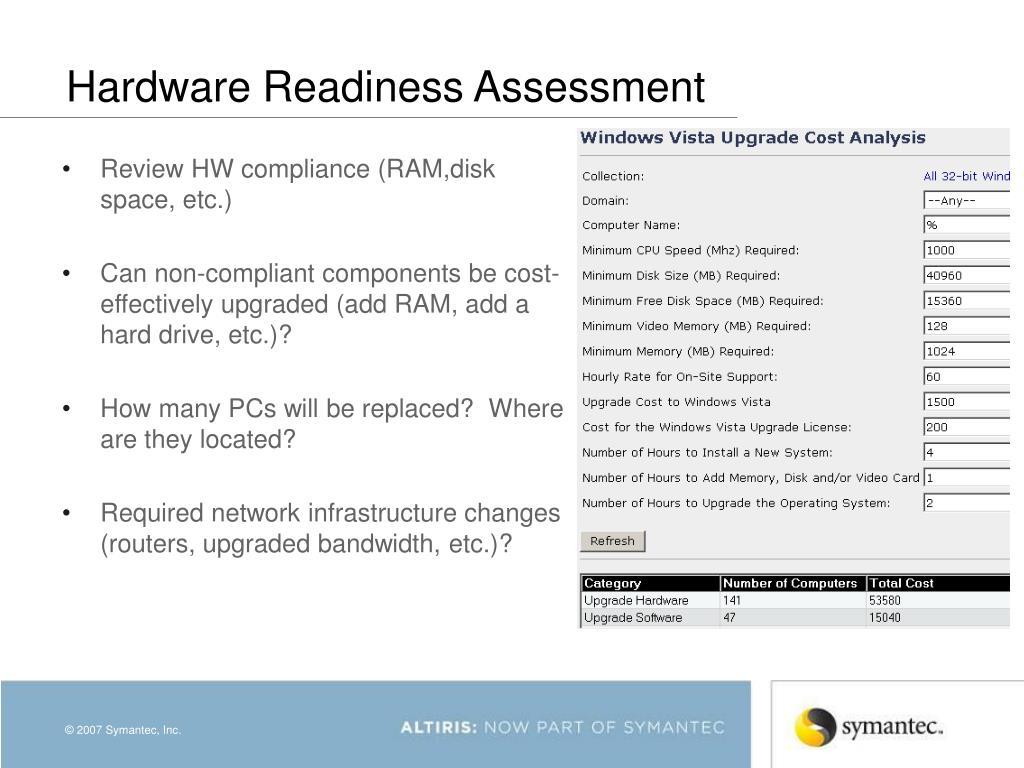 Hardware Readiness Assessment
