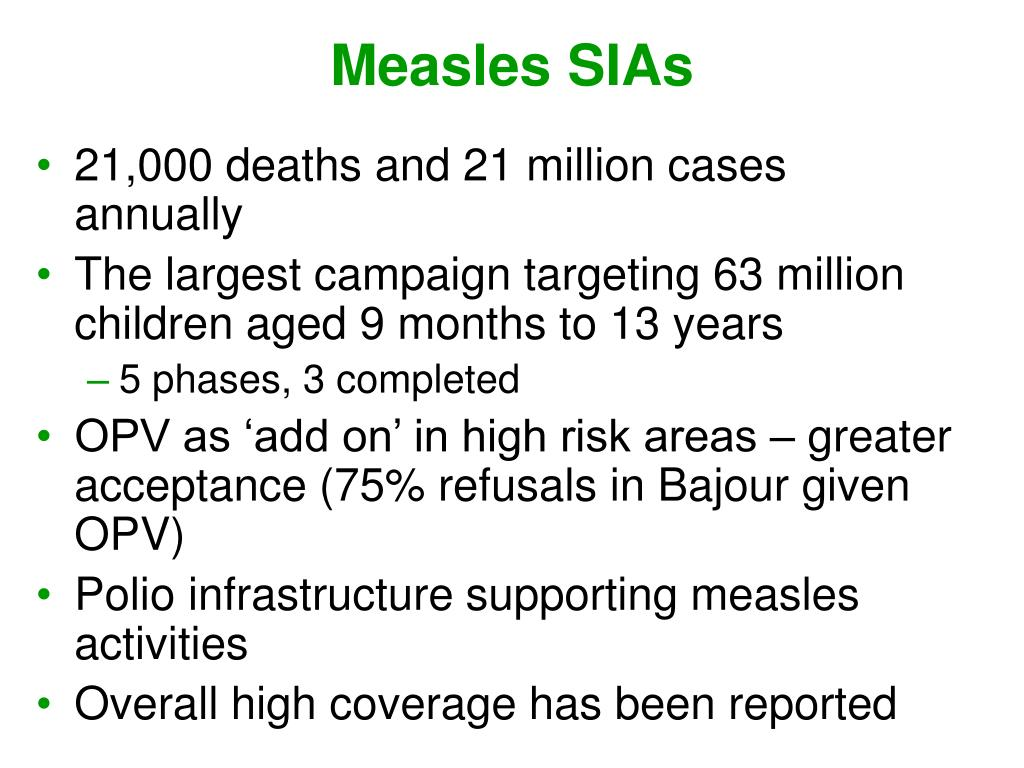 Measles SIAs