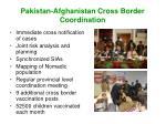 pakistan afghanistan cross border coordination