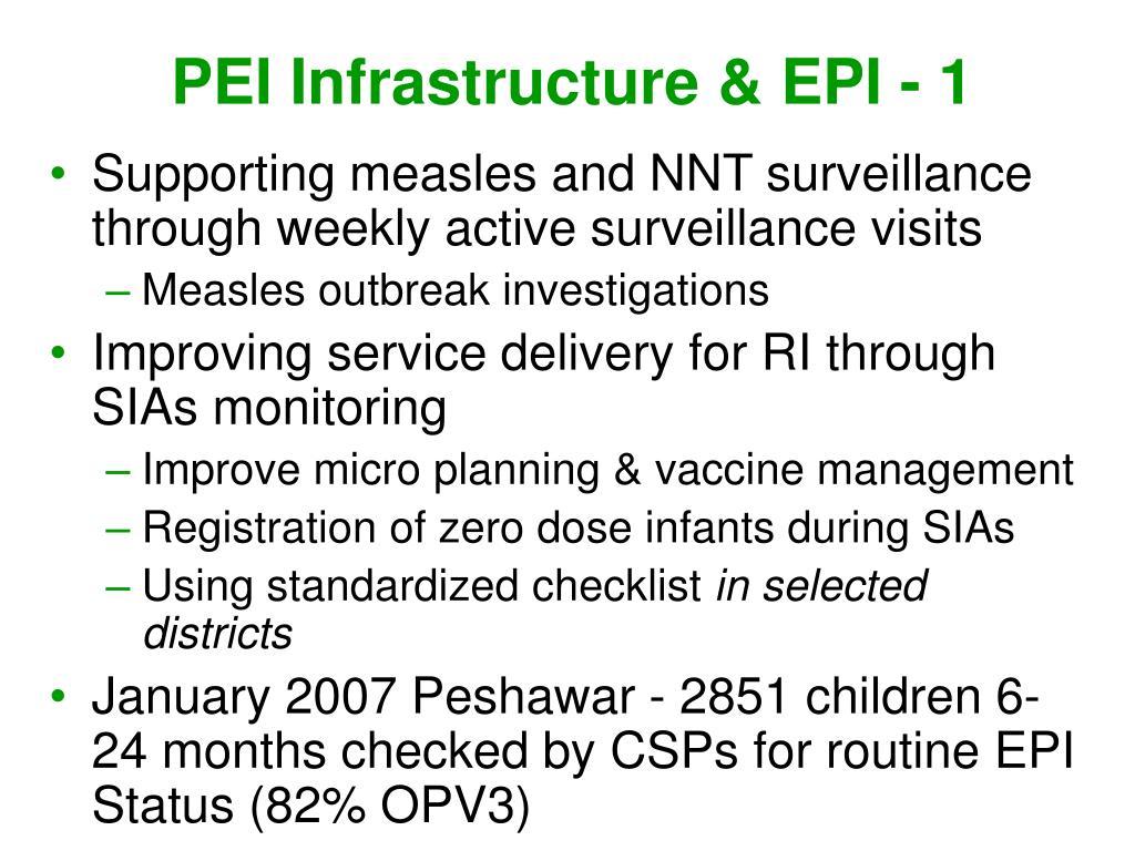 PEI Infrastructure & EPI - 1