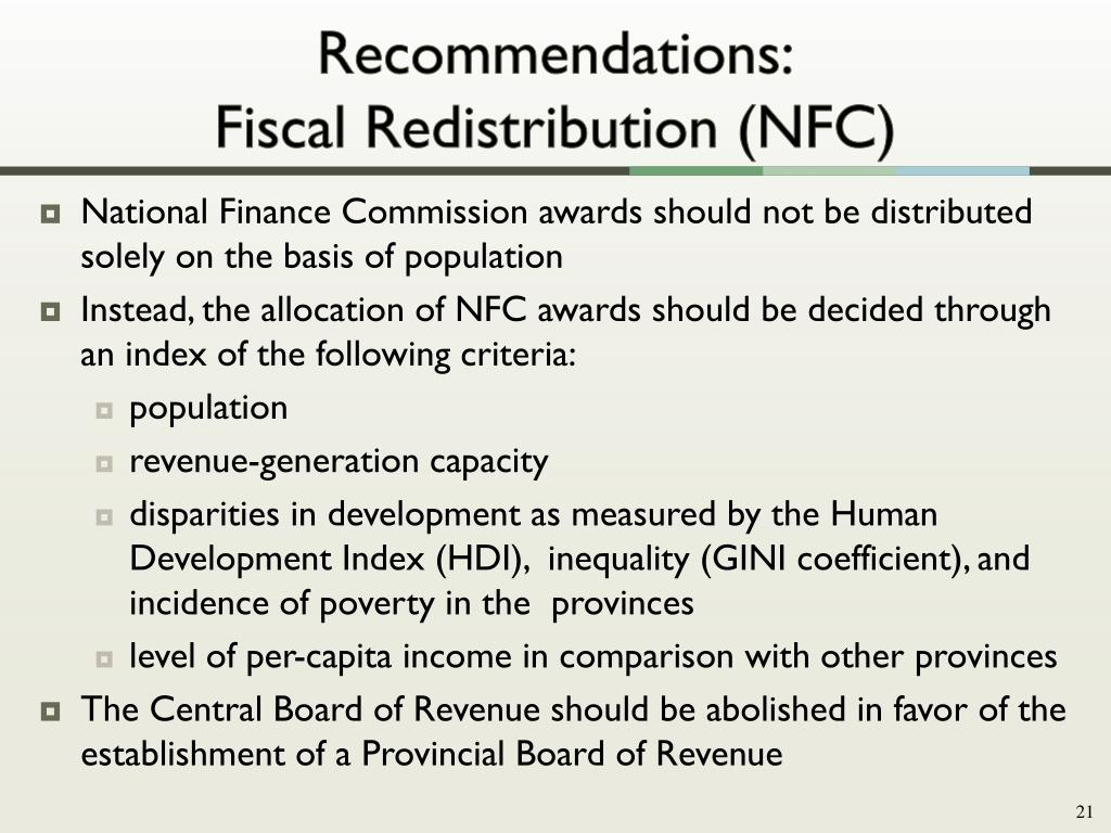 Recommendations: