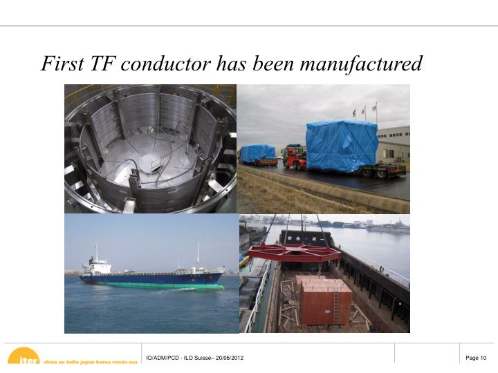First TF conductor has been manufactured