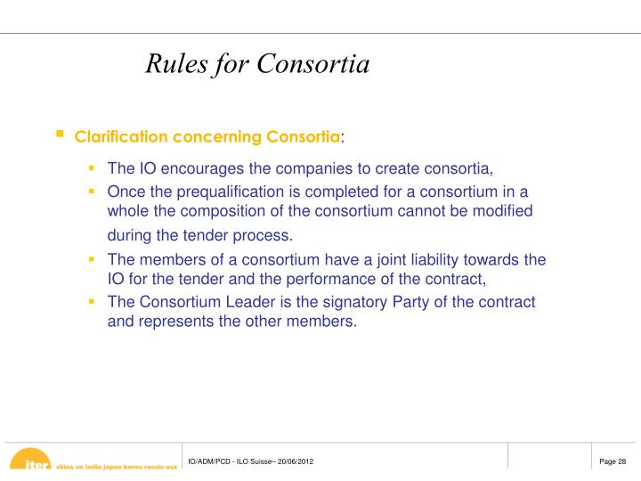 Rules for Consortia