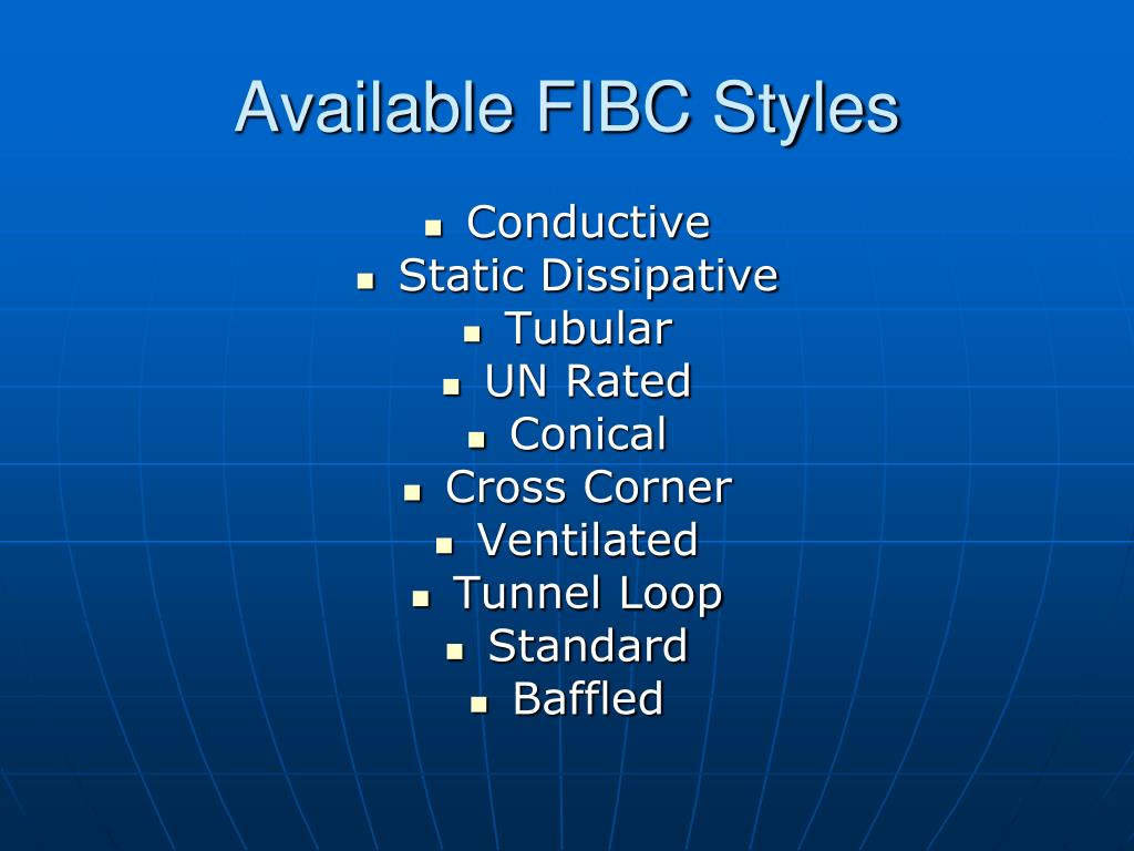 Available FIBC Styles