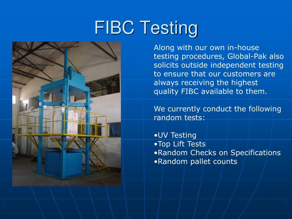 FIBC Testing