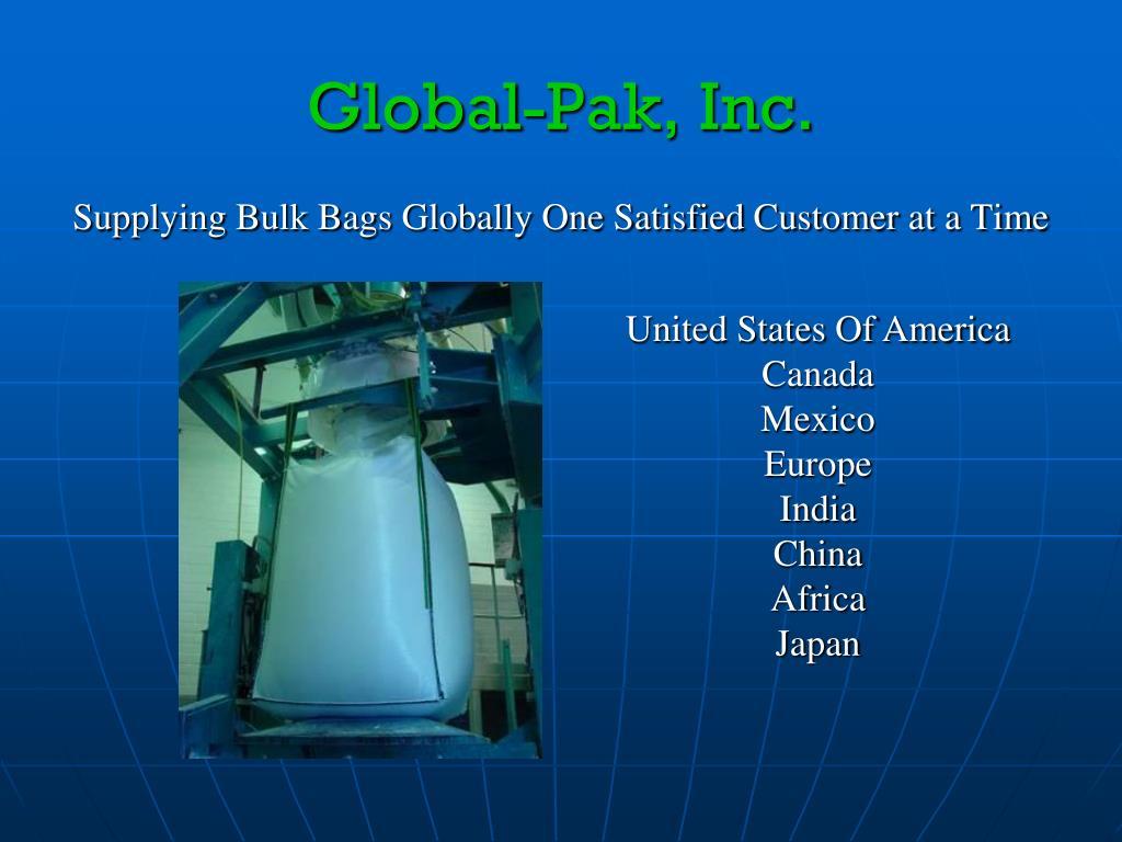Global-Pak, Inc.