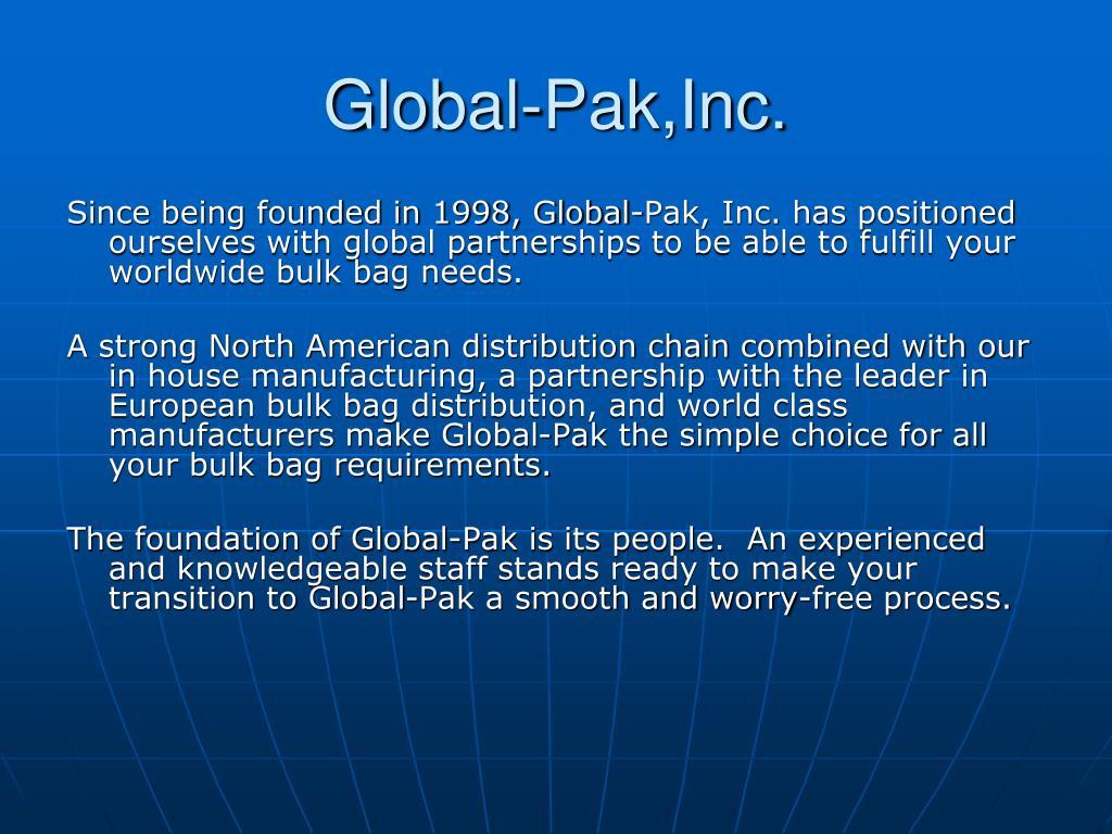 Global-Pak,Inc.