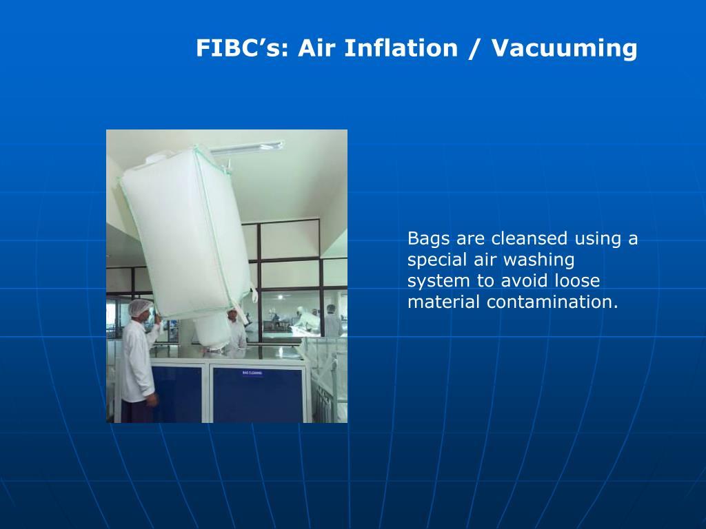 FIBC's: Air Inflation / Vacuuming