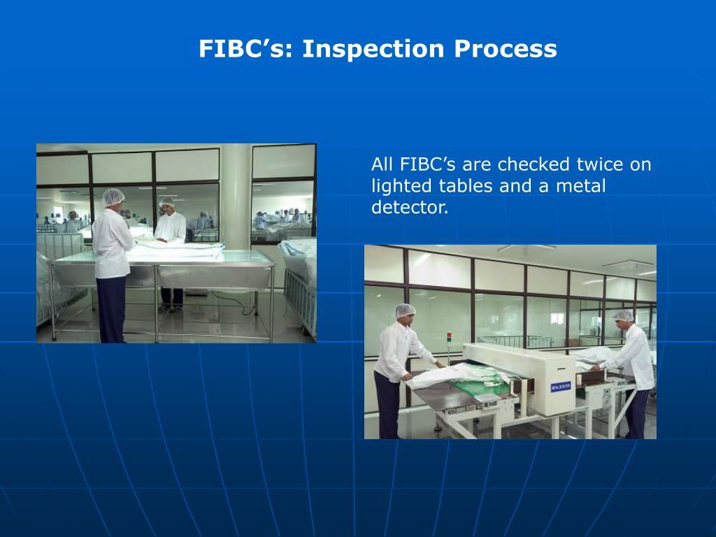 FIBC's: Inspection Process