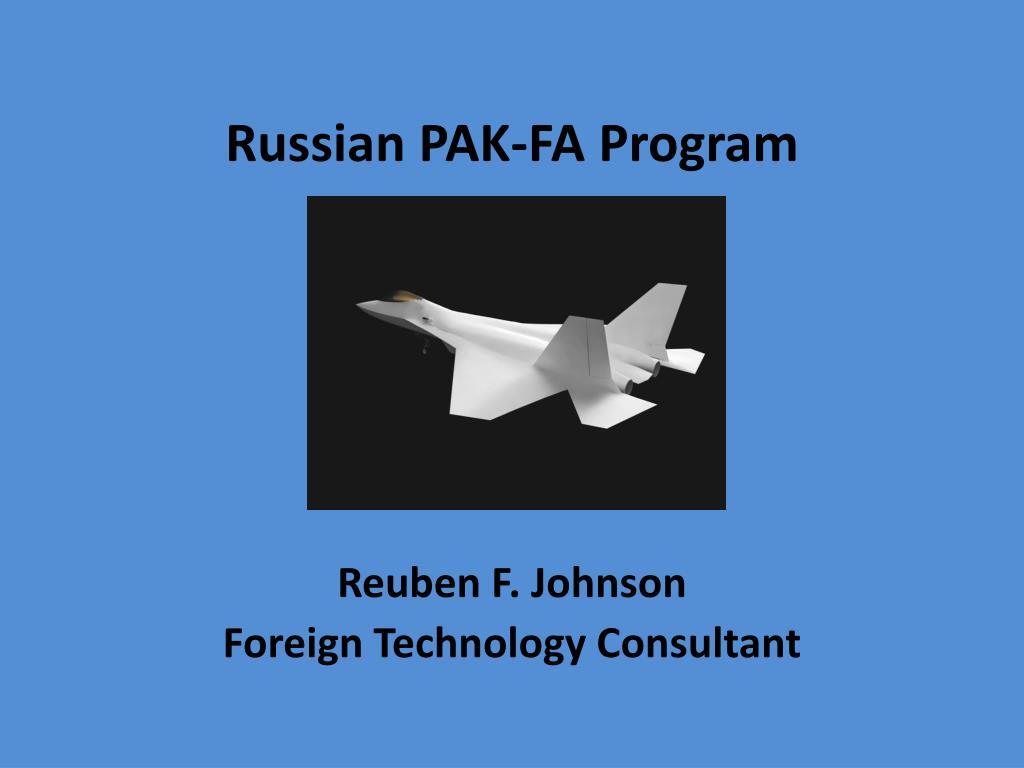 Russian PAK-FA Program