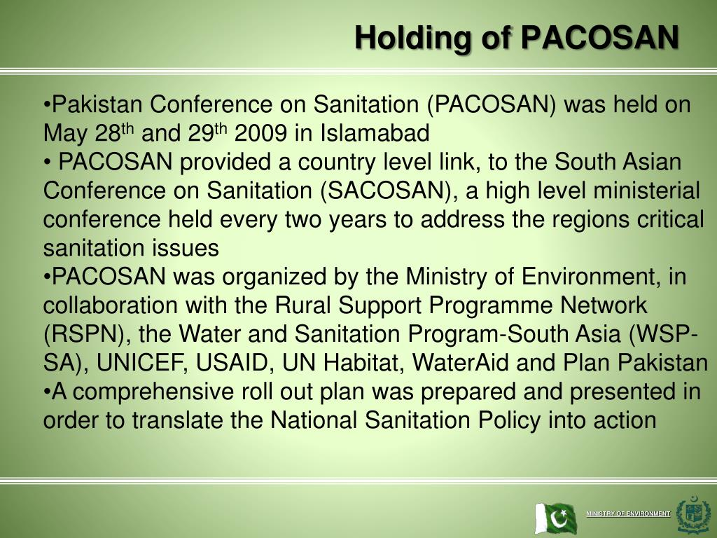 Holding of PACOSAN