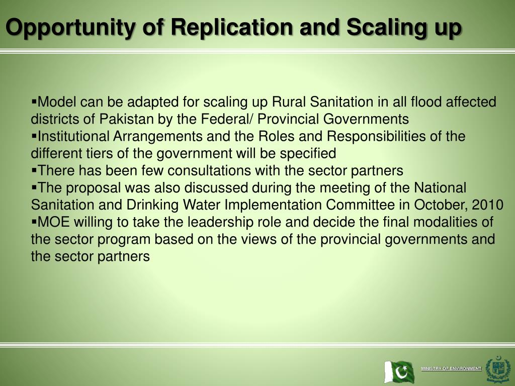 Opportunity of Replication and Scaling up