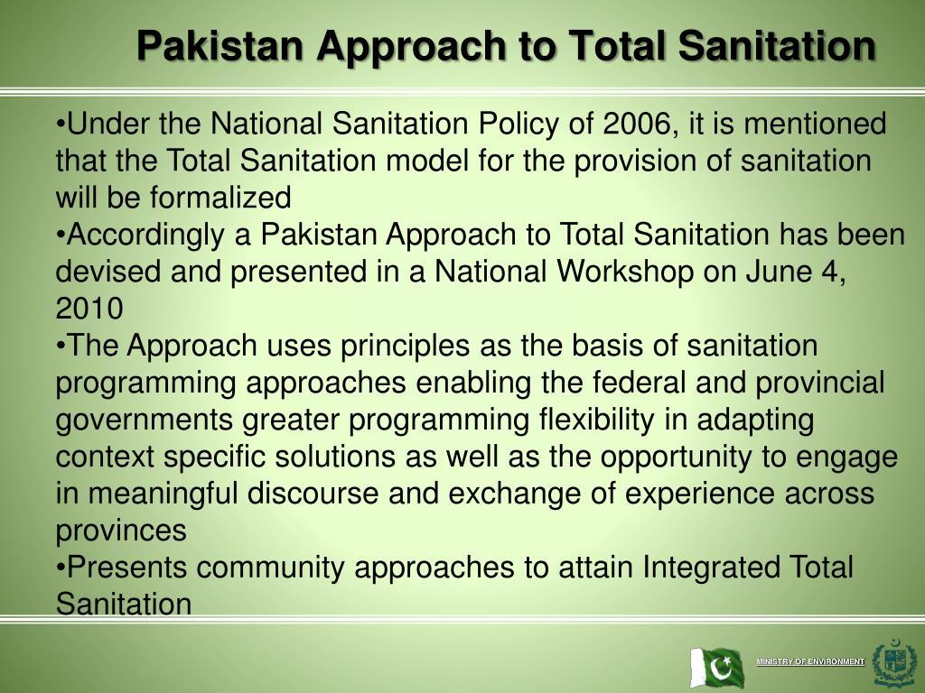 Pakistan Approach to Total Sanitation