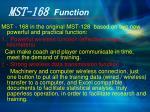 mst 168 function
