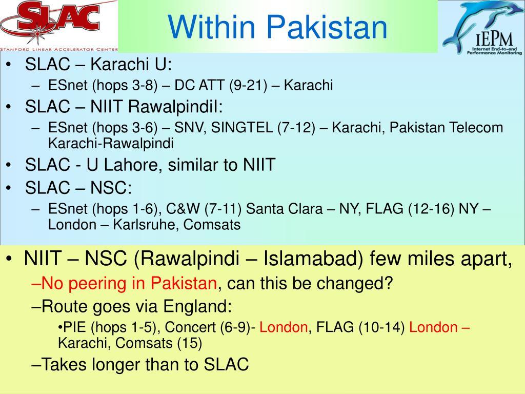Within Pakistan
