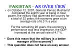 pakistan an over view