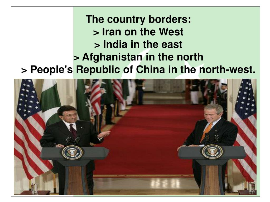 The country borders:
