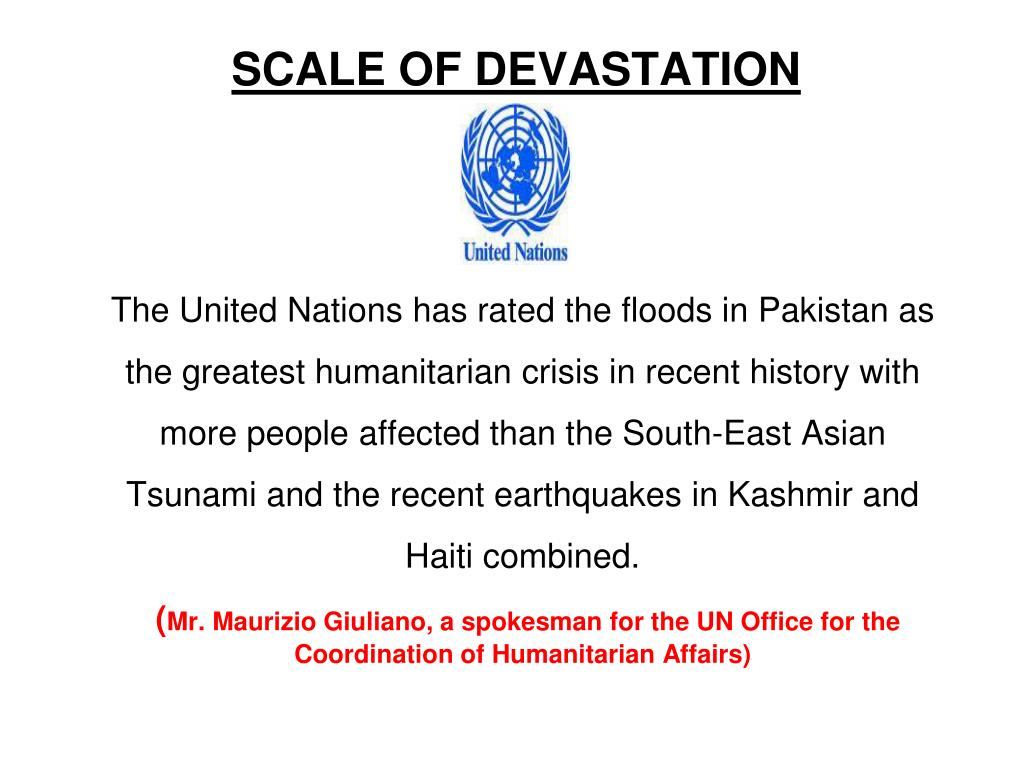 SCALE OF DEVASTATION