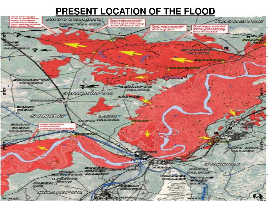 PRESENT LOCATION OF THE FLOOD