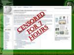 censored for 7 hours