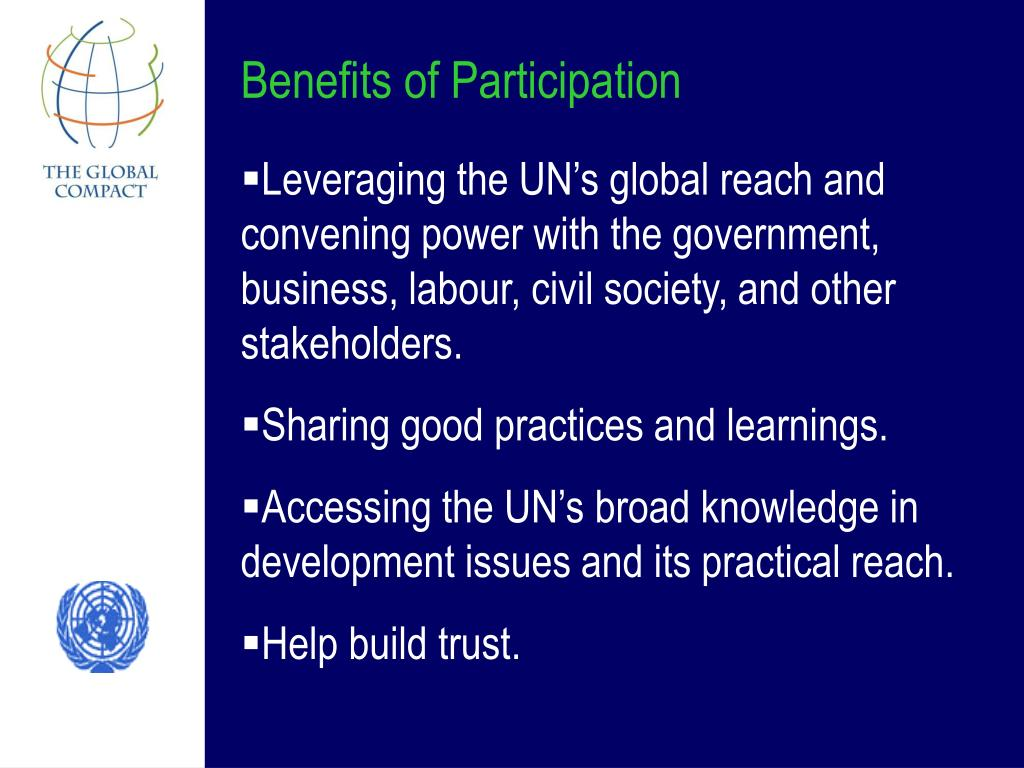 Benefits of Participation