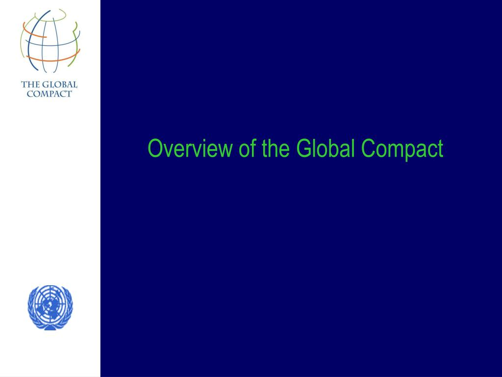 Overview of the Global Compact
