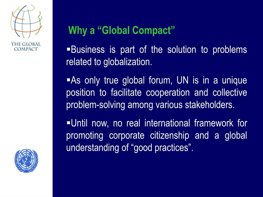 "Why a ""Global Compact"""