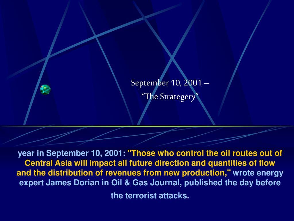 September 10, 2001 –