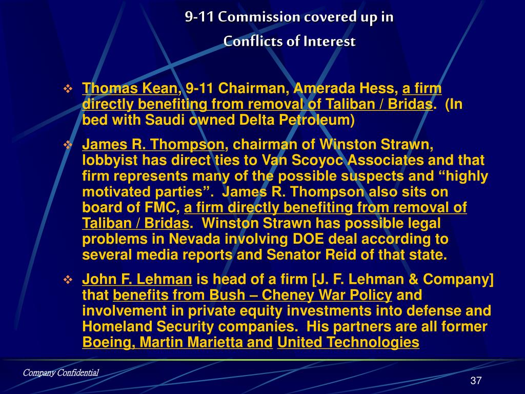 9-11 Commission covered up in