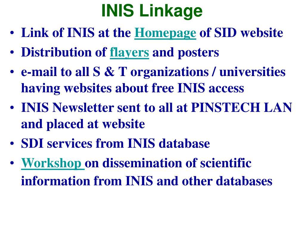 INIS Linkage