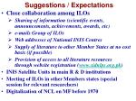 suggestions expectations