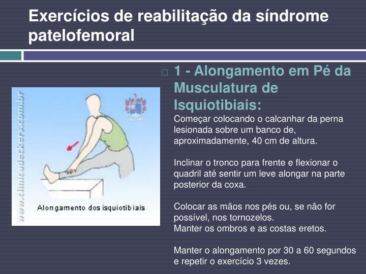 Exercícios de reabilitação da síndrome patelofemoral