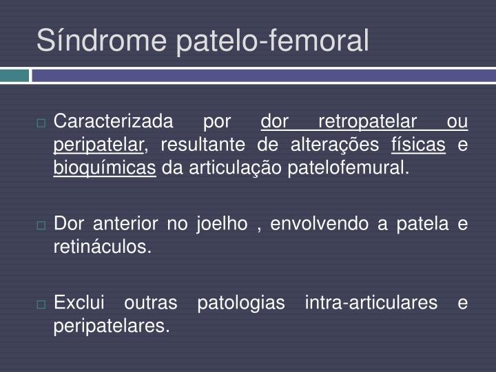 Síndrome patelo-femoral