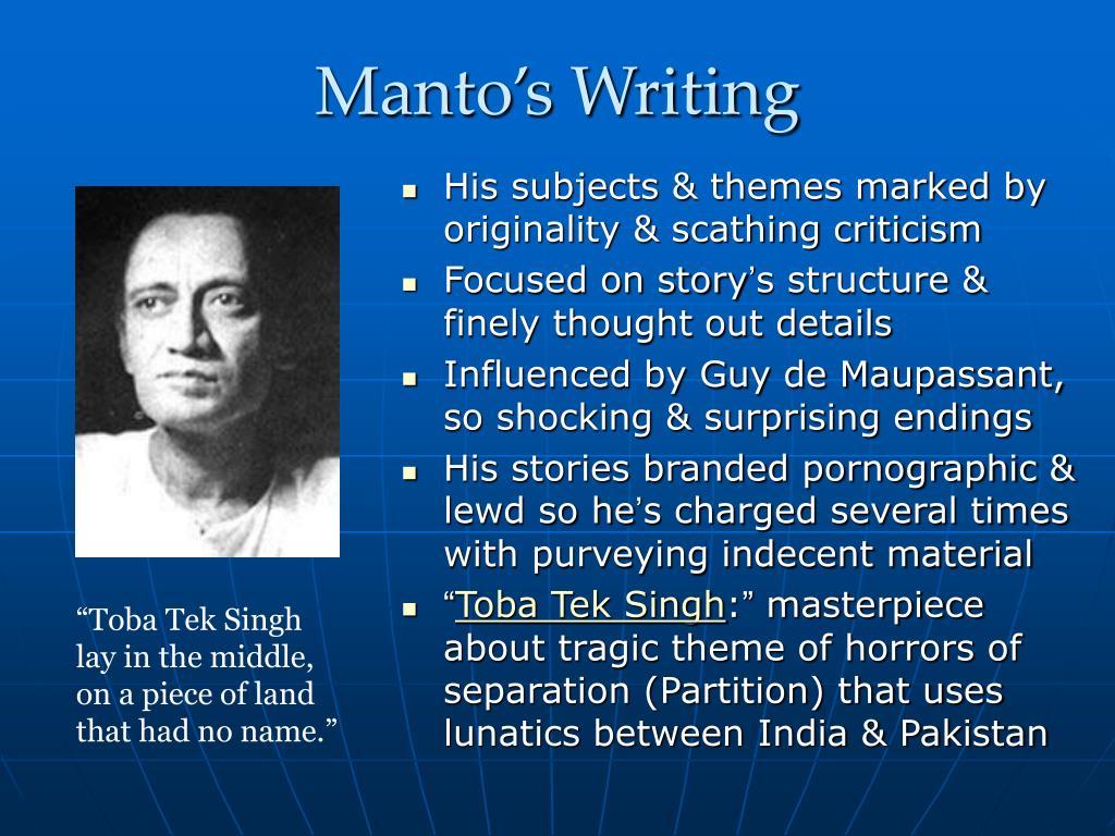 Manto's Writing