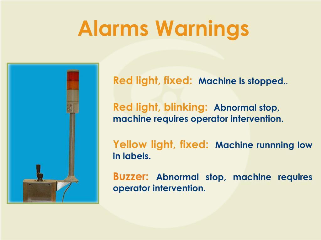 Alarms Warnings