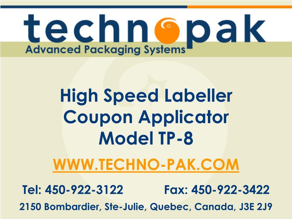 High Speed Labeller