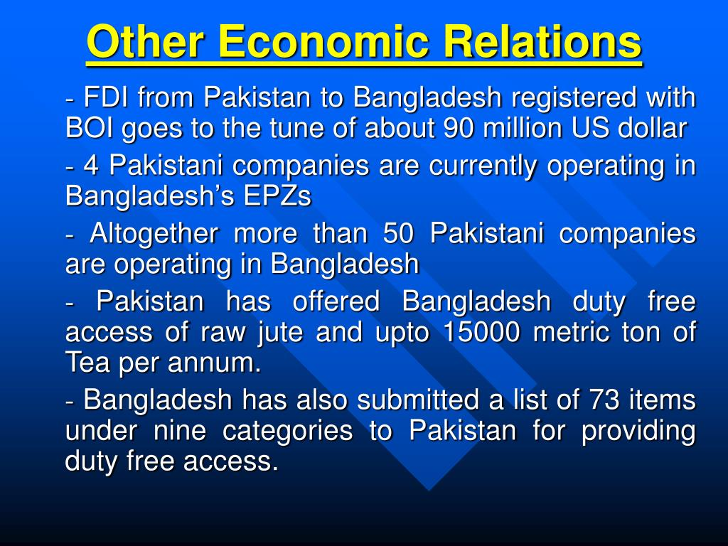 Other Economic Relations