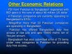 other economic relations