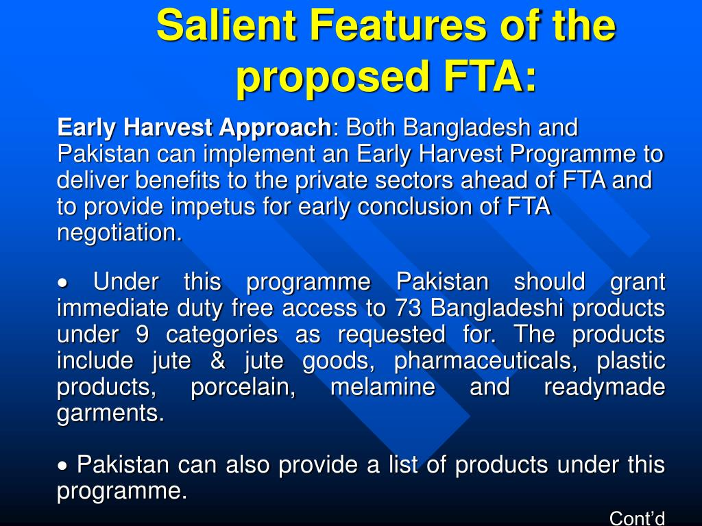 Salient Features of the proposed FTA: