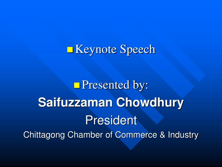 Keynote Speech