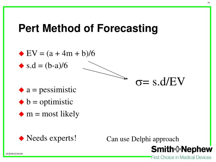 Pert Method of Forecasting