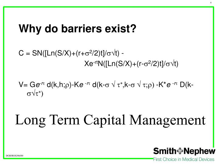 Why do barriers exist?