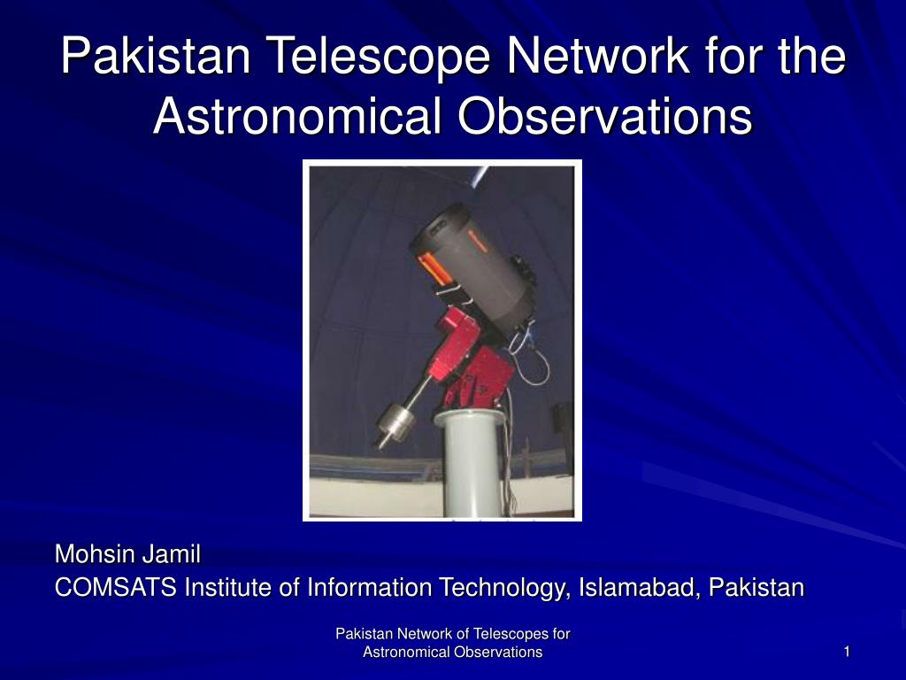 Pakistan Telescope Network for the Astronomical Observations