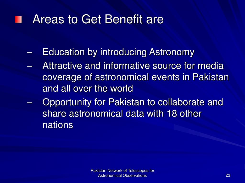 Areas to Get Benefit are