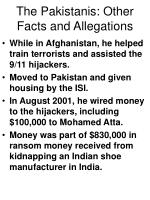 the pakistanis other facts and allegations62