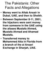 the pakistanis other facts and allegations63