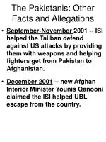 the pakistanis other facts and allegations69