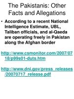 the pakistanis other facts and allegations70